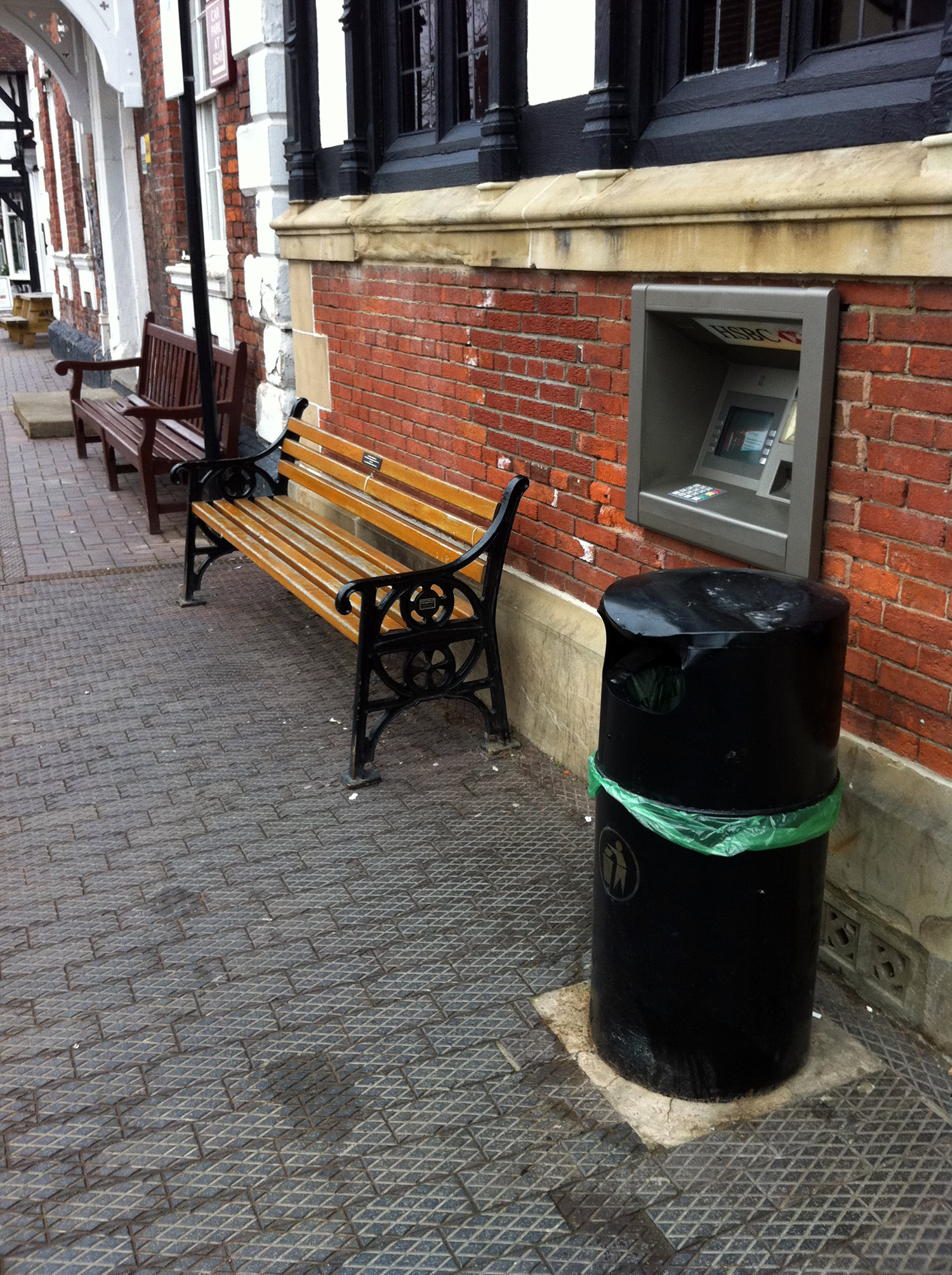 Different styles of street furniture can create a confused streetscape