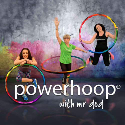 Powerhoop - Powerhoop is the world's most advanced fitness hoop. The workout is designed to trim your waist and strengthen your core.