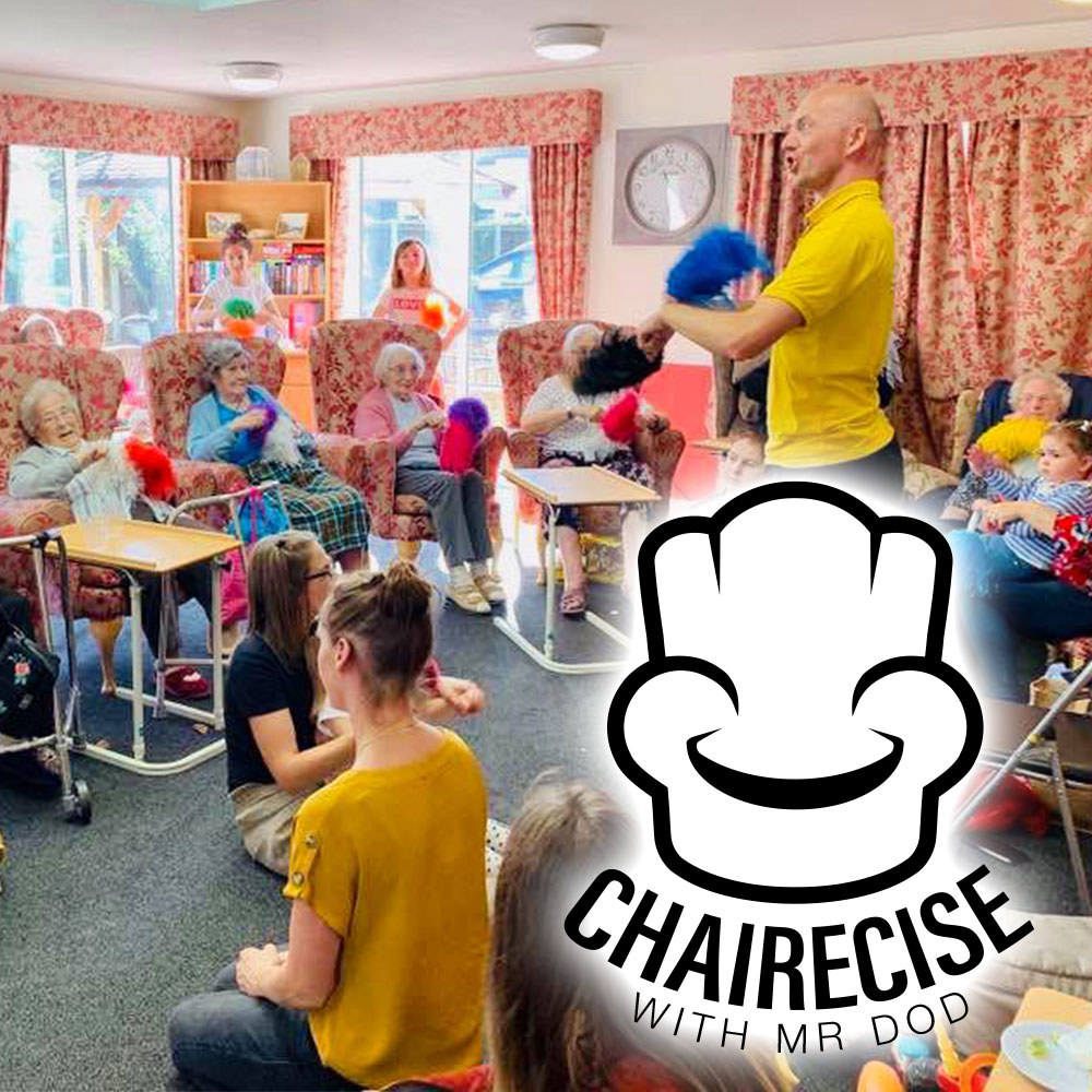 Chairecise - Seated group exercise classes for older & limited mobility adults. Mr dod brightens the day in many care homes around Norfolk.