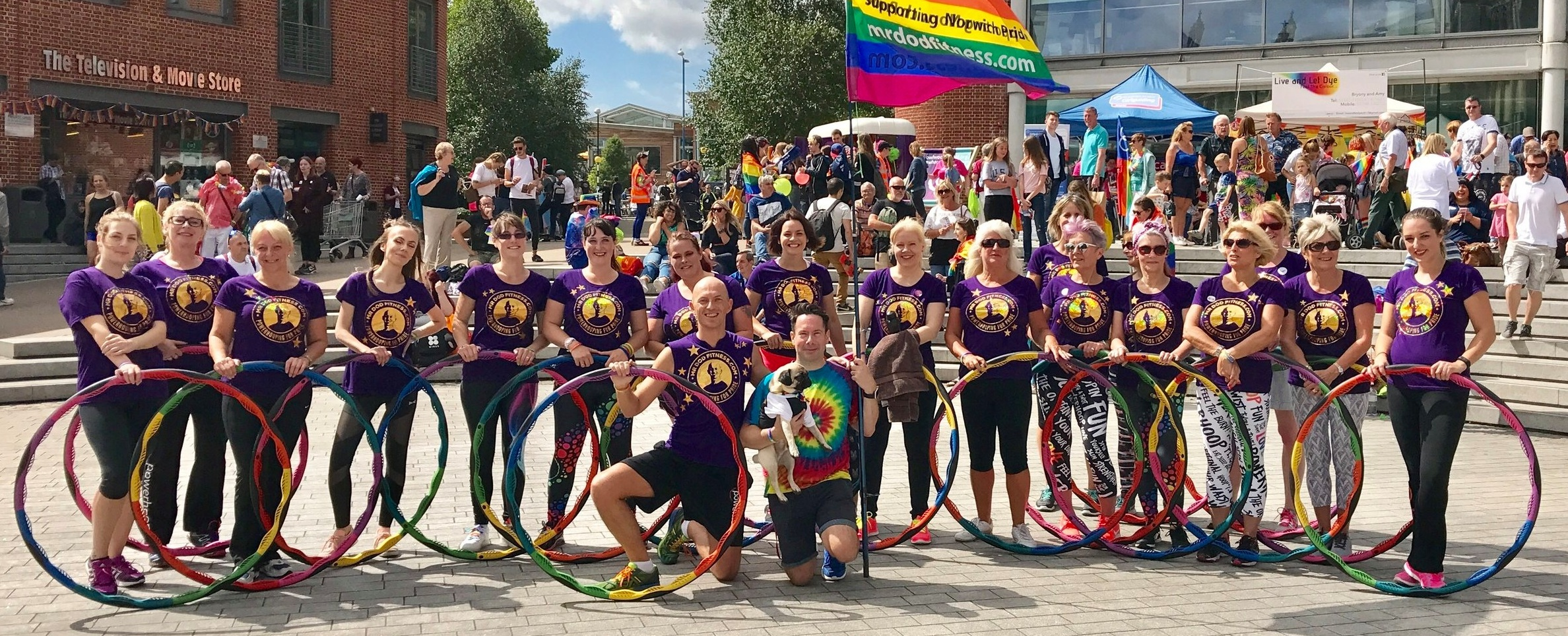 My proudest Powerhoop class of 2017. Thank you at Norwich Pride and my participants