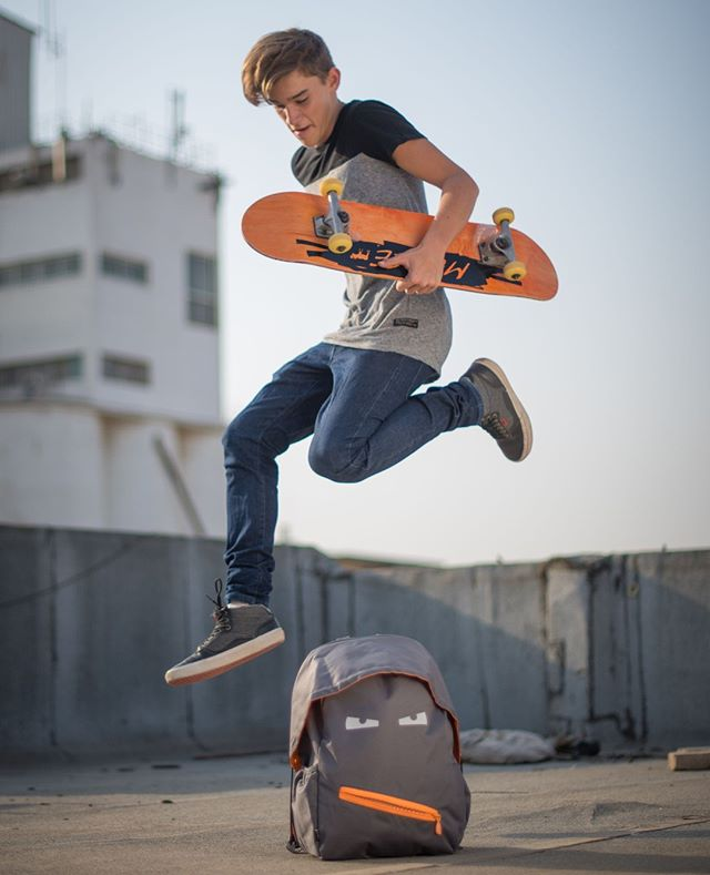 #justzipit #onlocation #catalog #photography #tlv #rooftop #backpack #skater #skateboard