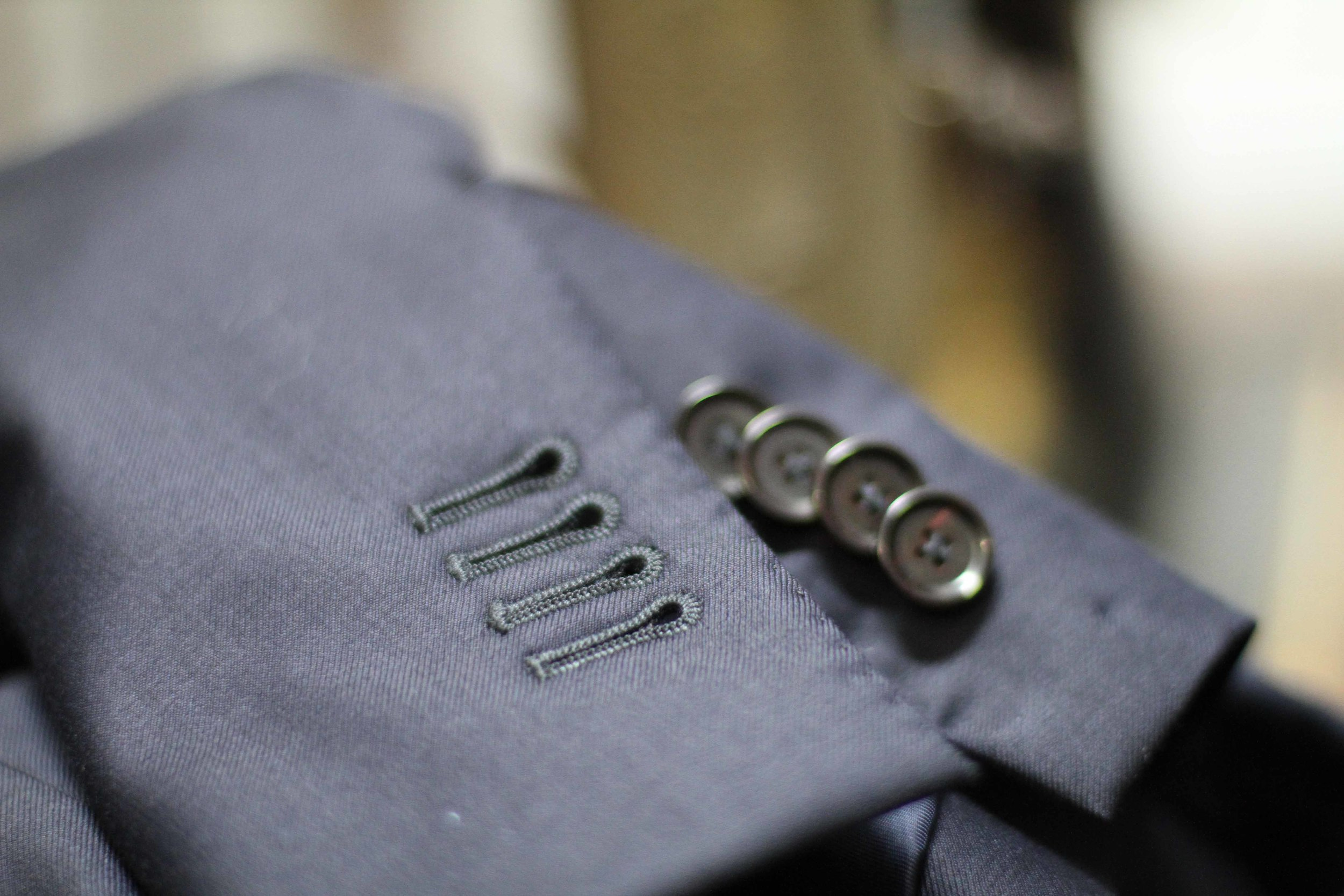 "Working Buttonholes ""Surgeon's Cuffs"" - Standard in all our work"