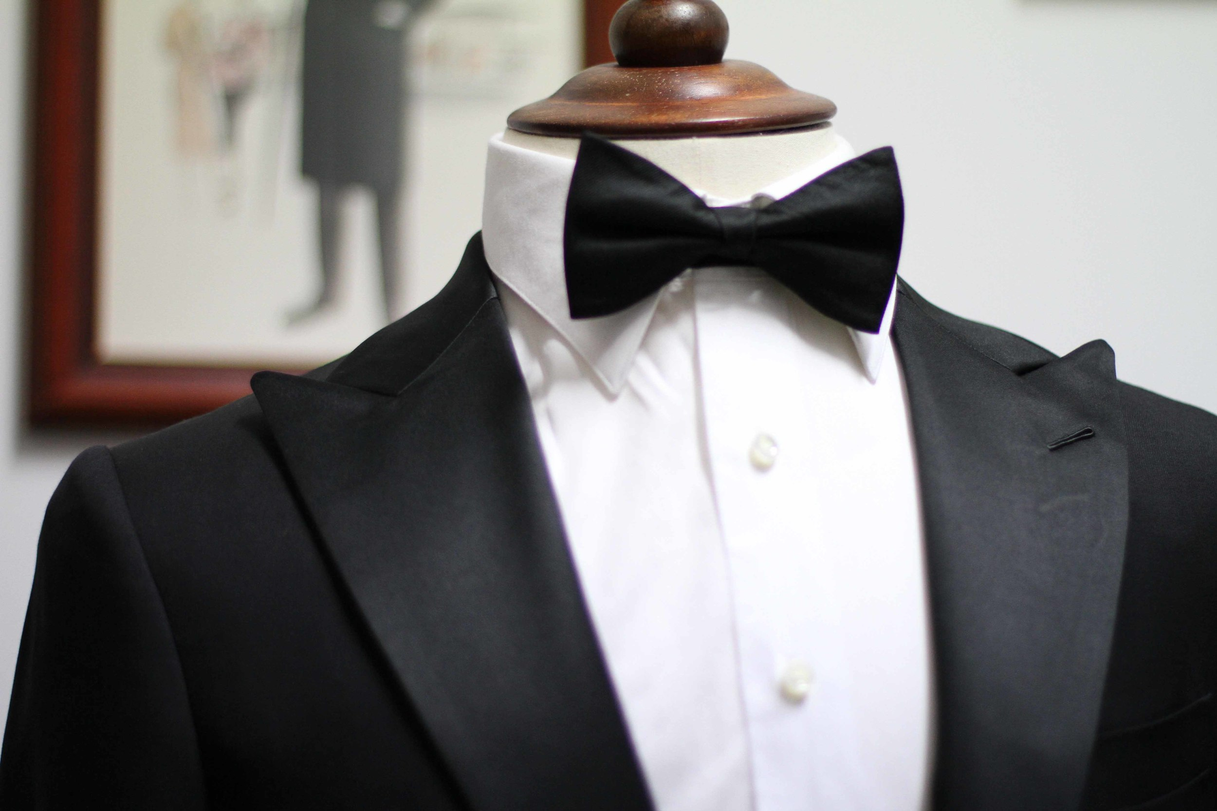 The Satin Lapel in a Peak Style- A Black Tie Classic