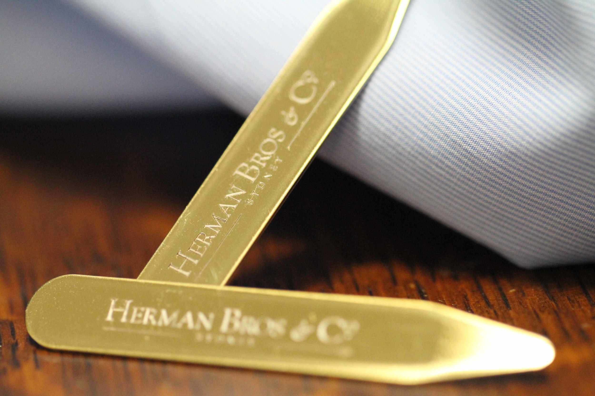 Our Brass Coated Collar Stays - Meet your new best friends