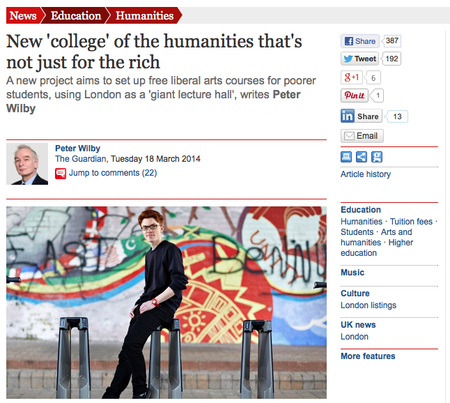 Screen Shot, IF Project in the Guardian, March 2014