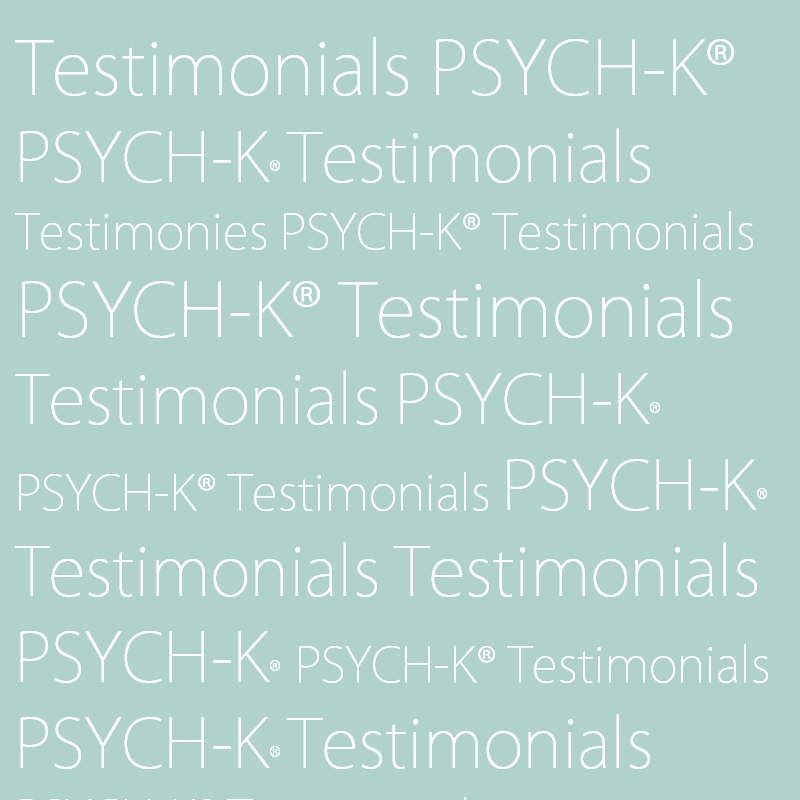 Testimonials - What people have experienced after their sessions