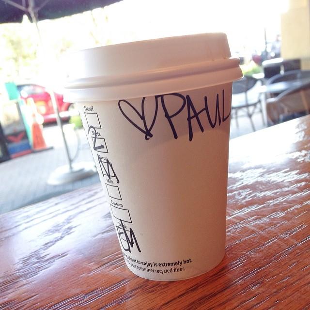 Valentine love from @starbucks #coffee