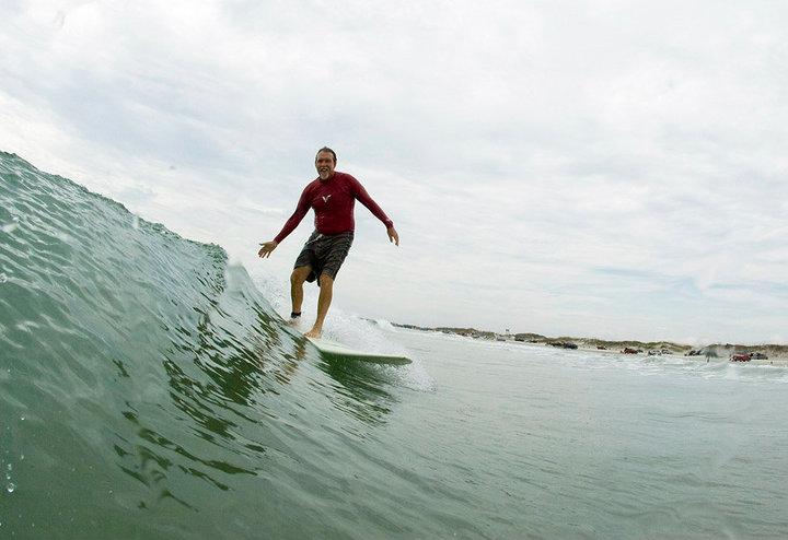 Surfer Eddie Pitts, by Paul Figura