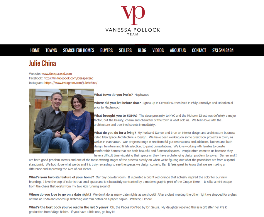 Julie China is interviewed by the Vanessa Pollock Team and featured in  People That You Meet