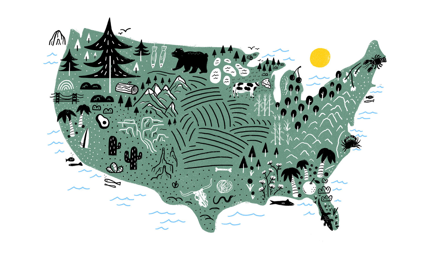 Doodle Map Illustrations — Katie Lukes on
