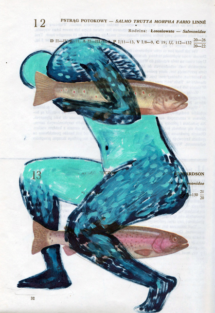Poisson 2 , 2013, mixed media collage