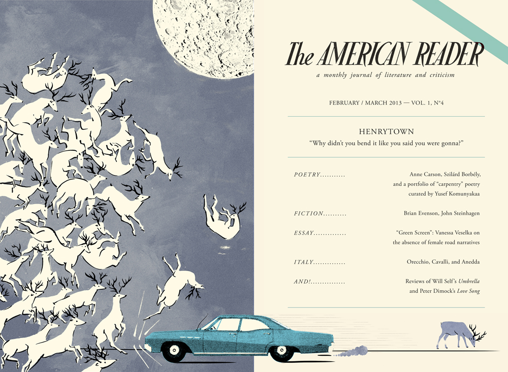 The American Reader cover issue 4  , 2013