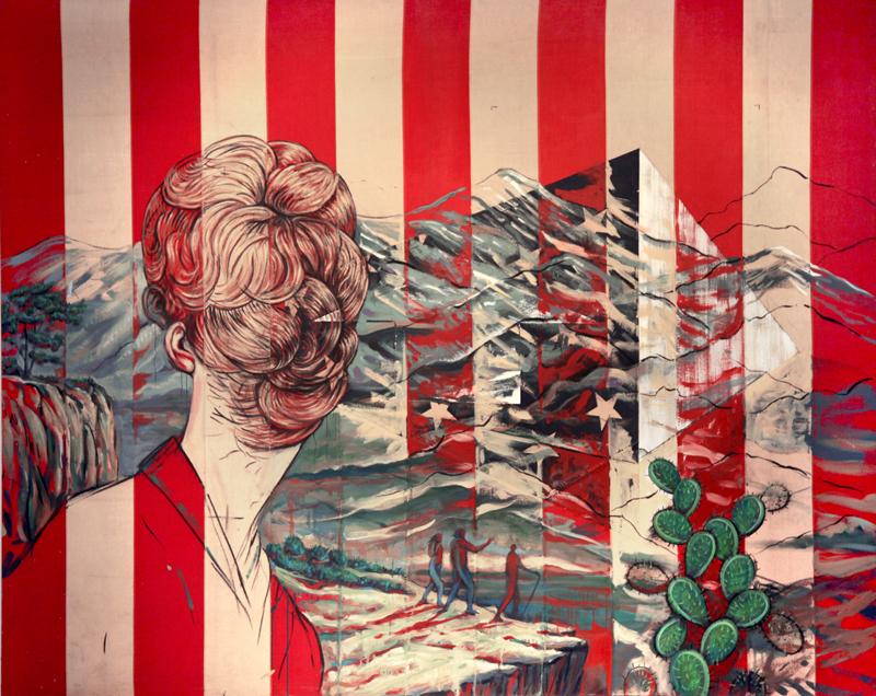 Beyond Noumena , mixed media on canvas, 2014