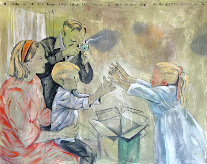 Homo Consumericus, Oil on Canvas, 2014