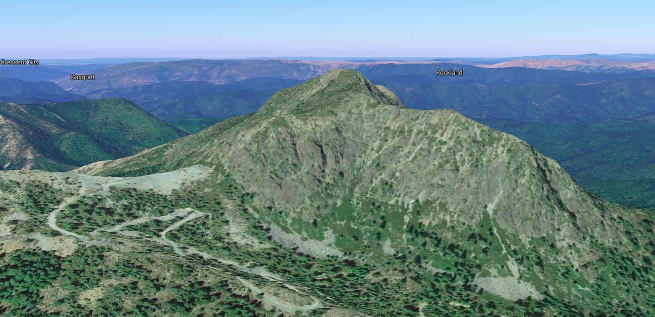 Sanger Peak . Image from Google Maps.