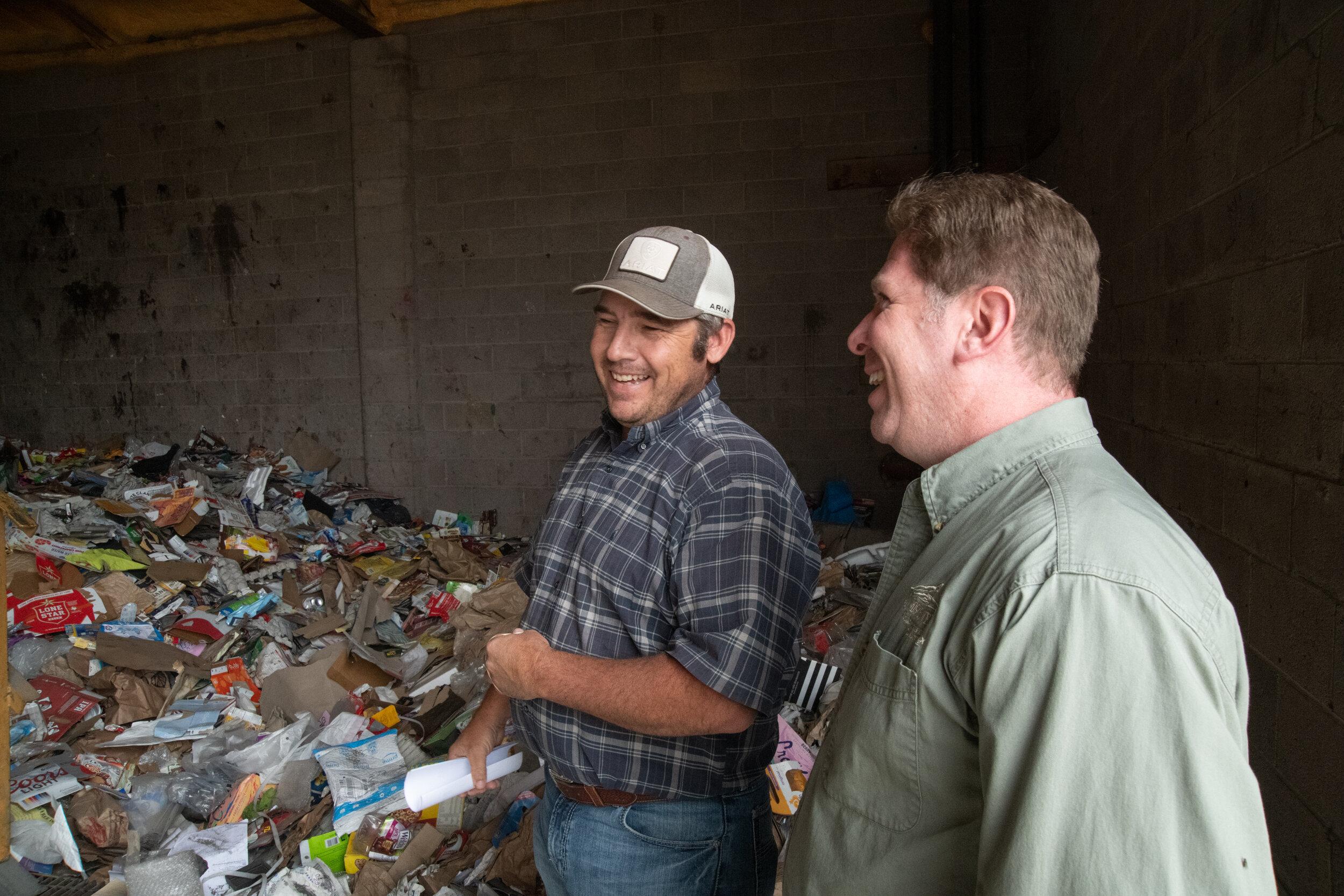 Chris Trosper Owner/Operator Bruin Waste (left) & Alex Shelley Communications Executive SMPA (right)