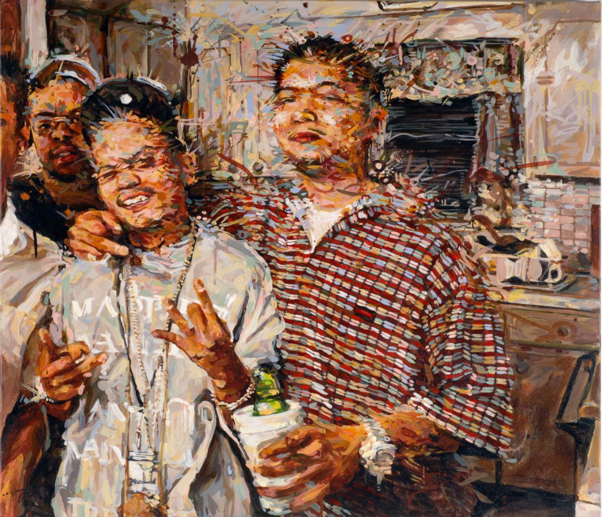 "MICHAEL VASQUEZ  ""Some Were Left Out"" 2008  acrylic on canvas  40 x 44"""