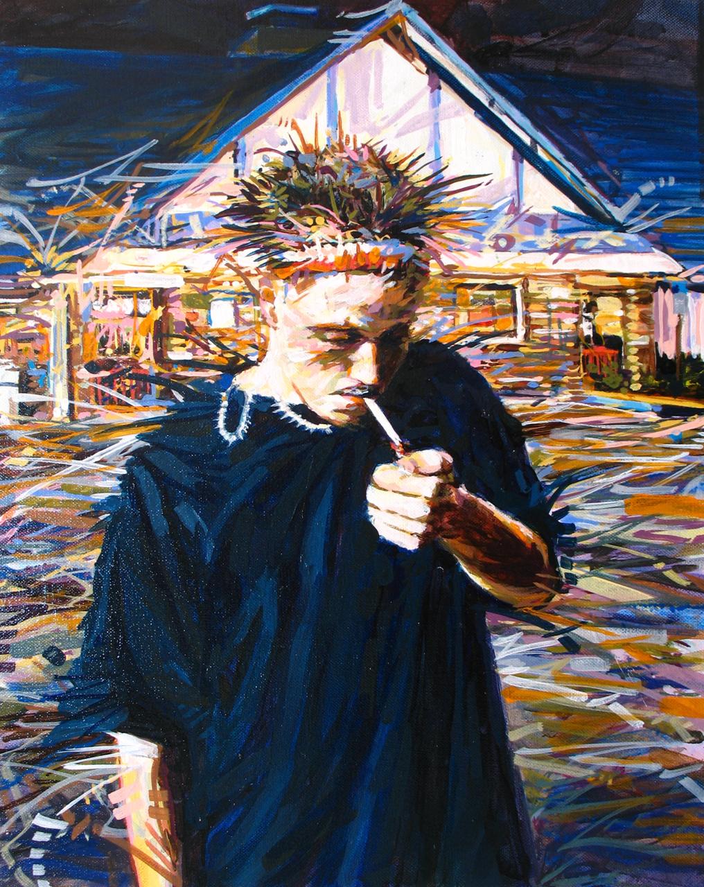 "MICHAEL VASQUEZ  Untitled 2008  acrylic on canvas  20 x 16"""