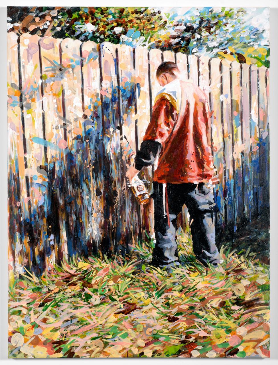 "MICHAEL VASQUEZ  Untitled 2008  acrylic on canvas  48 x 36"""