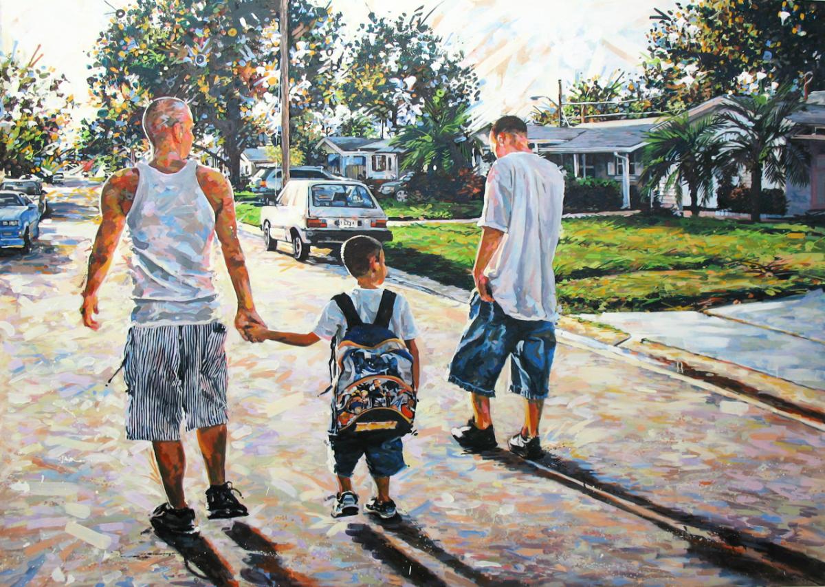 "MICHAEL VASQUEZ  Untitled 2007  oil on canvas  60 x 84"""