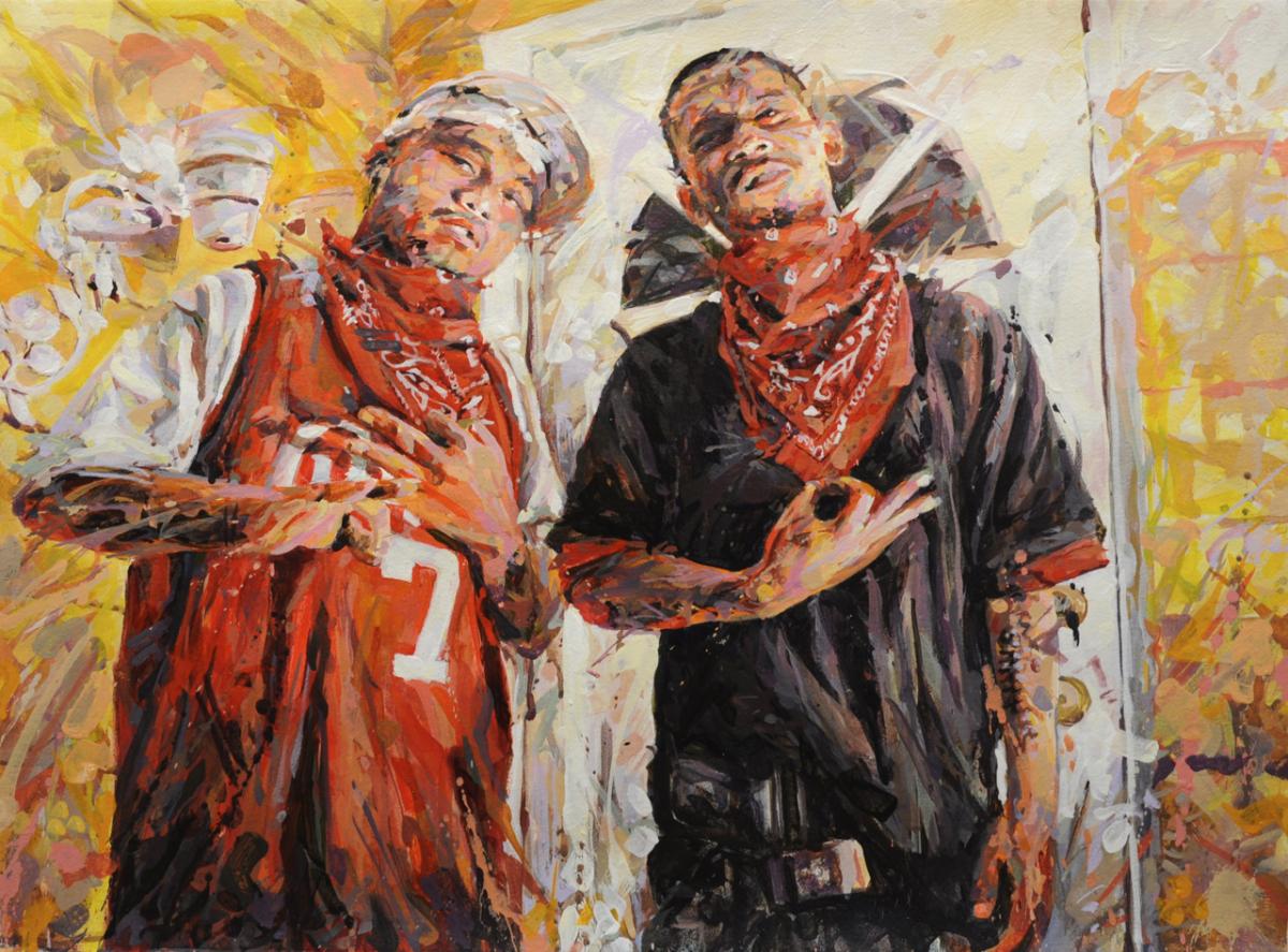 "MICHAEL VASQUEZ  Untitled 2010  acrylic on paper  22 x 30"""
