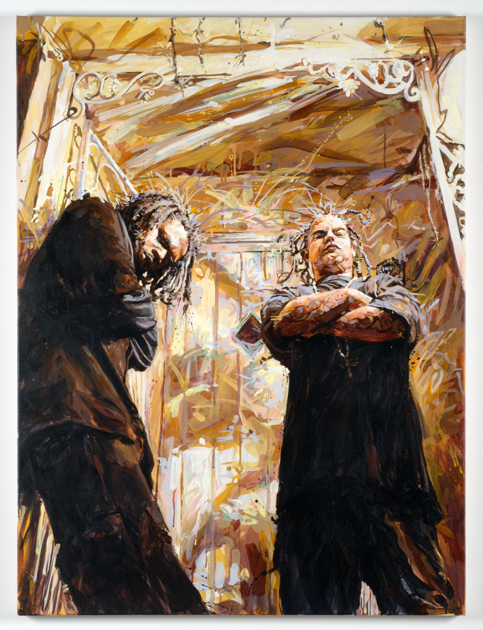 "MICHAEL VASQUEZ  ""The Guarded Entry"" 2008  acrylic on canvas  48 x 36"""