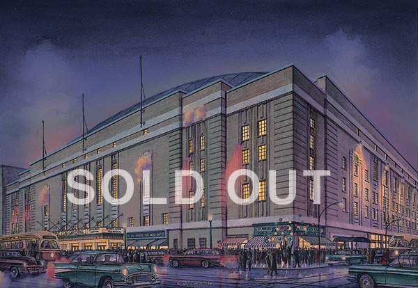 Maple Leaf Gardens  By Daniel John Campbell   595 signed and numbered prints     Sold Out