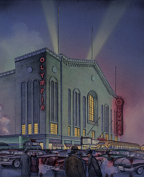 Detroit Olympia Stadium  By Daniel John Campbell  595 signed and numbered prints