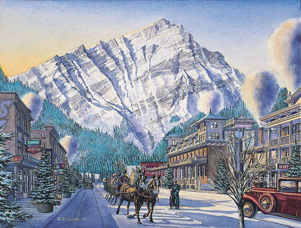Banff Avenue   by Daniel John Campbell  350 signed and numbered prints