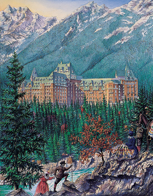 Banff Springs  By Daniel John Campbell  350 signed and numbered prints
