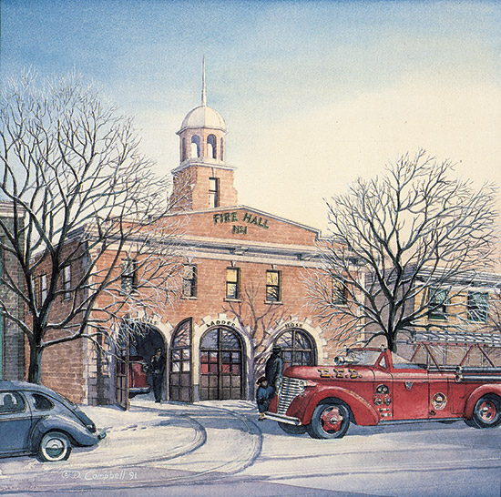 Strathcona Fire Hall   by Daniel John Campbell    295 signed and numbered prints