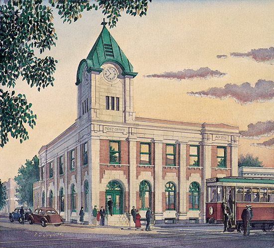 Strathcona Post Office   by Daniel John Campbell    295 signed and numbered prints