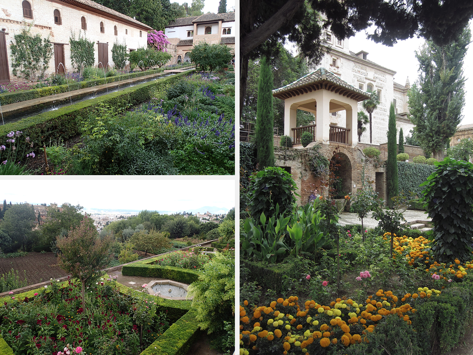 The Gardens of the Generalife   photo: Melanie Reed-felstead left and Antonia right
