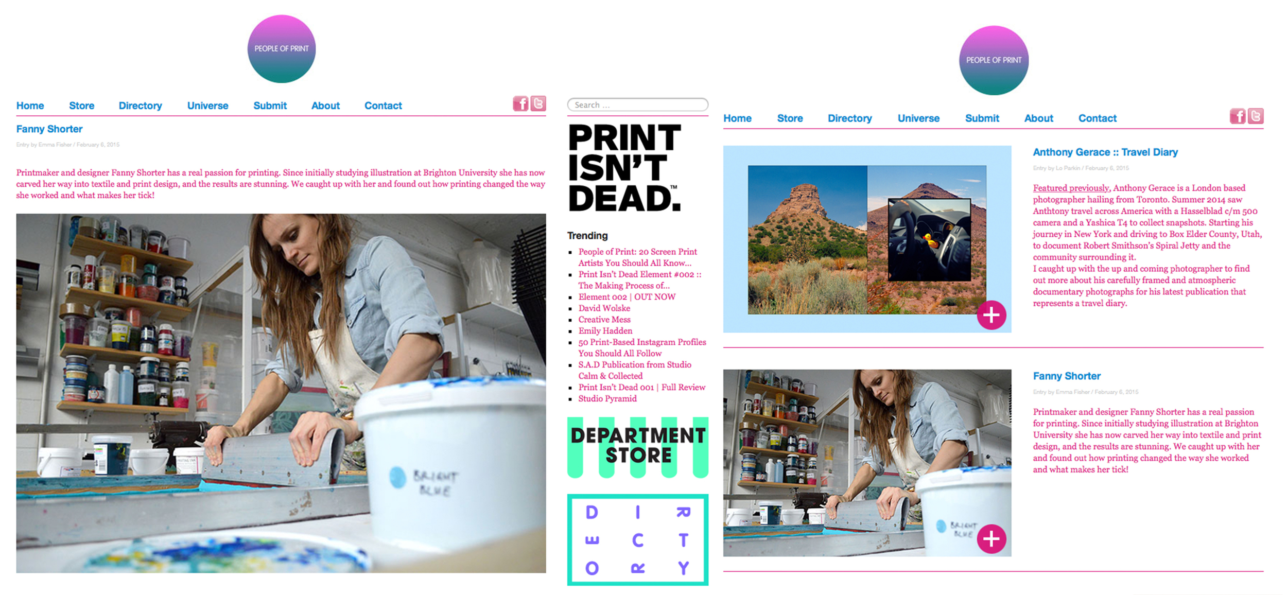print isn't dead fanny shorter press 2015 screen printing people of print fabrics cushions interiors interior artist illustration design interview