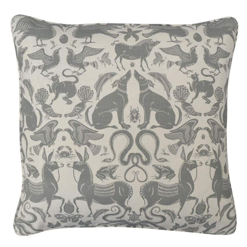 BIRDS & BEASTS Large Cushion | Dove
