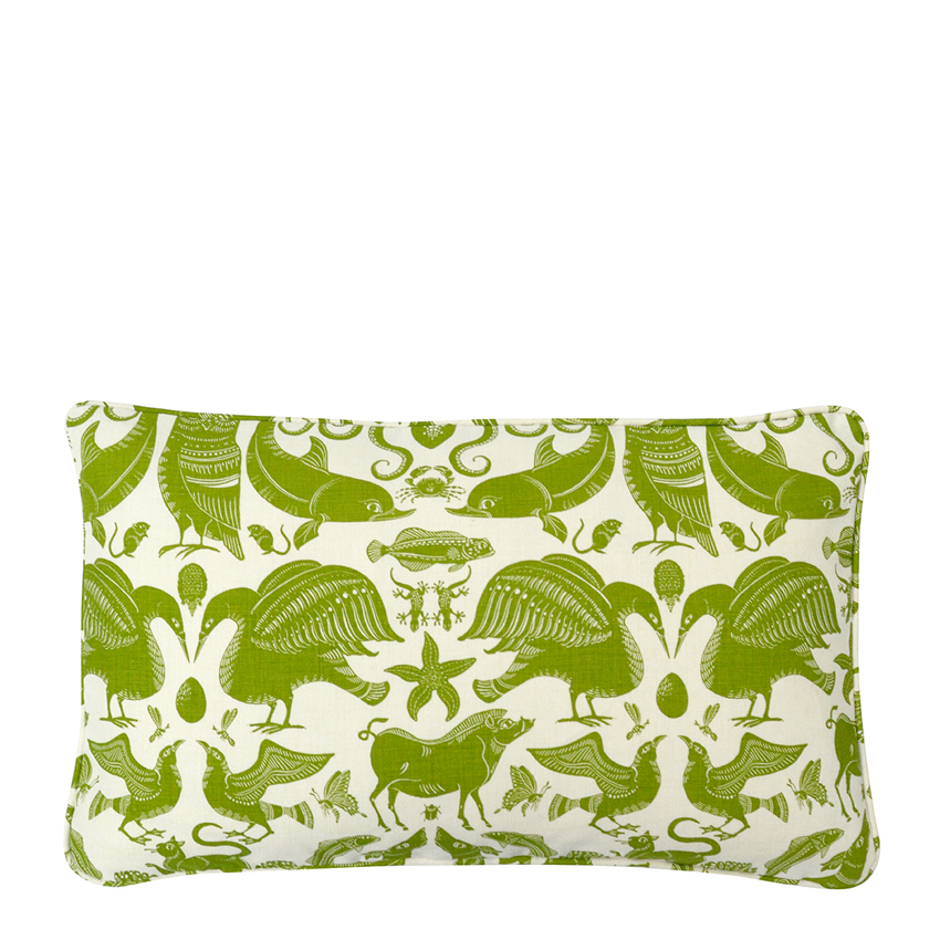 BIRDS & BEASTS Small Cushion | Olive