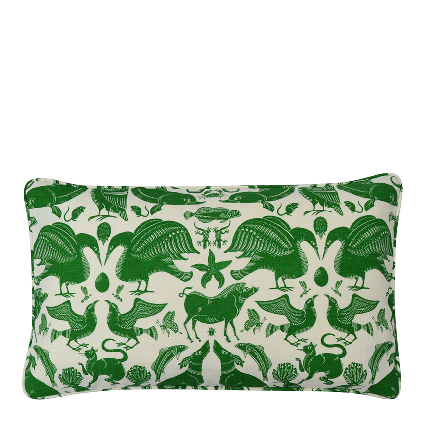 BIRDS & BEASTS Small Cushion | Cypress