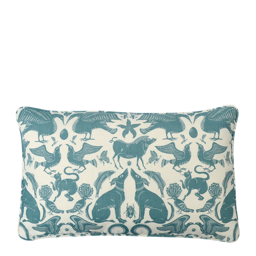 BIRDS & BEASTS Small Cushion | Pebble