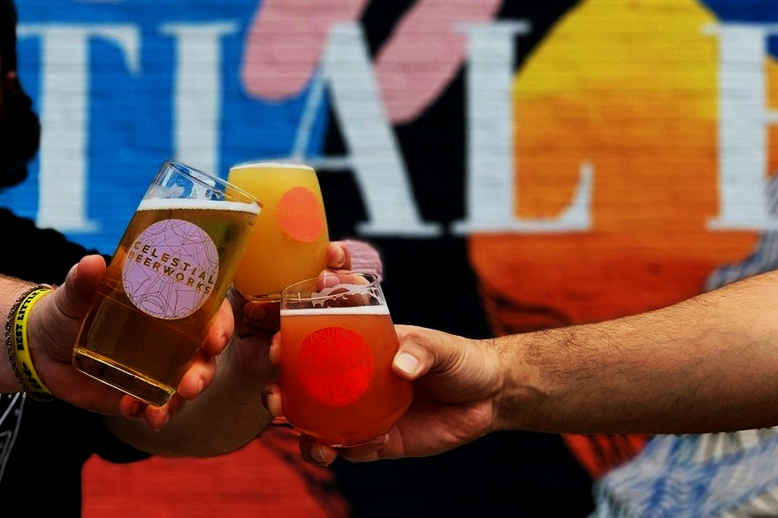 CELESTIAL BEERWORKS - With a heavy focus on hop-forward, approachable, complex styles, Celestial Beerworks has cultivated a taproom experience like no other by combining art, science, and delicious, fresh beer. Just down the road and perfect for a pre-game.