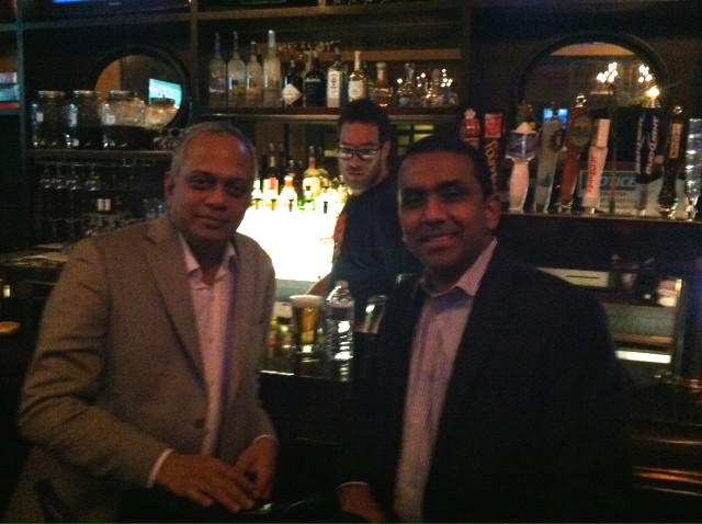 Anand Sudarshan former CEO of Manipal University and Ragu Kamakshisundaram Silley Circuits the Silicon Alley Network NYC