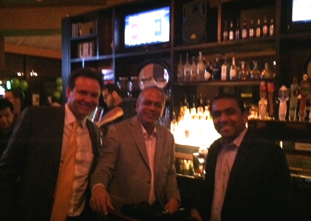 John Griffin, Anand Sudarshan former CEO of Manipal University and Ragu Kamarkshisundaram Silley Circuits: The Silicon Alley Network NYC