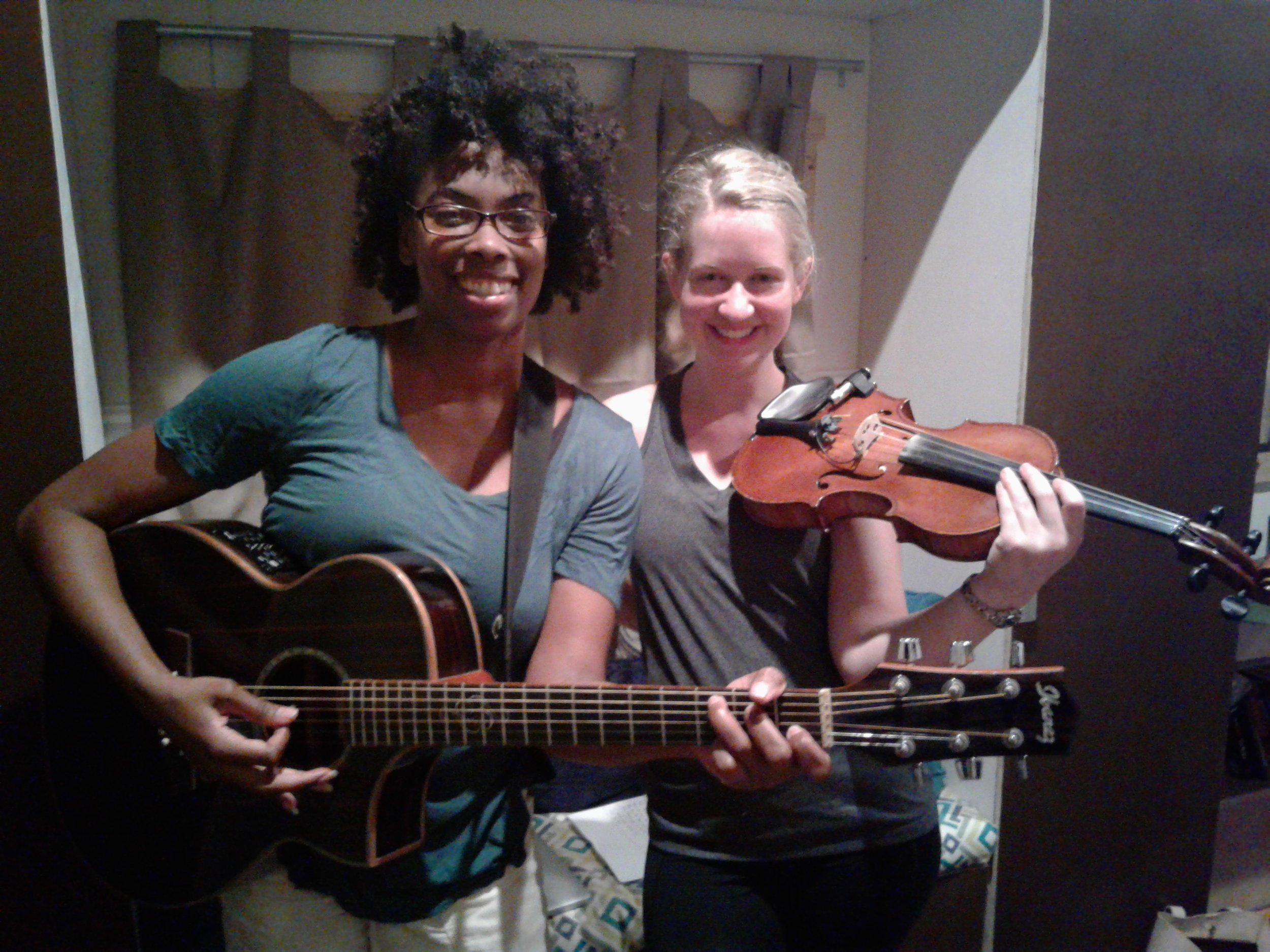 We can't wait to see you - Anitra Jay (vocals/guitar)& Kelsey Maxwell (violin)