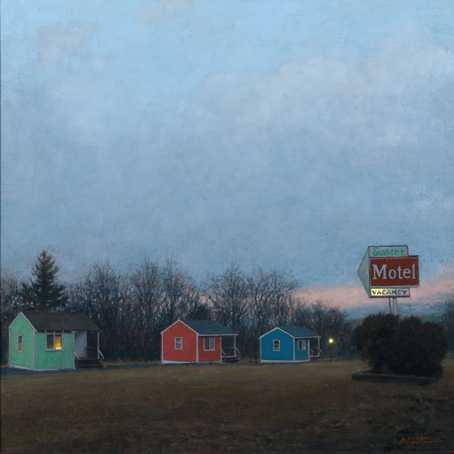 """Sunset Motel"", Copyright Linden Frederick. All Rights Reserved."