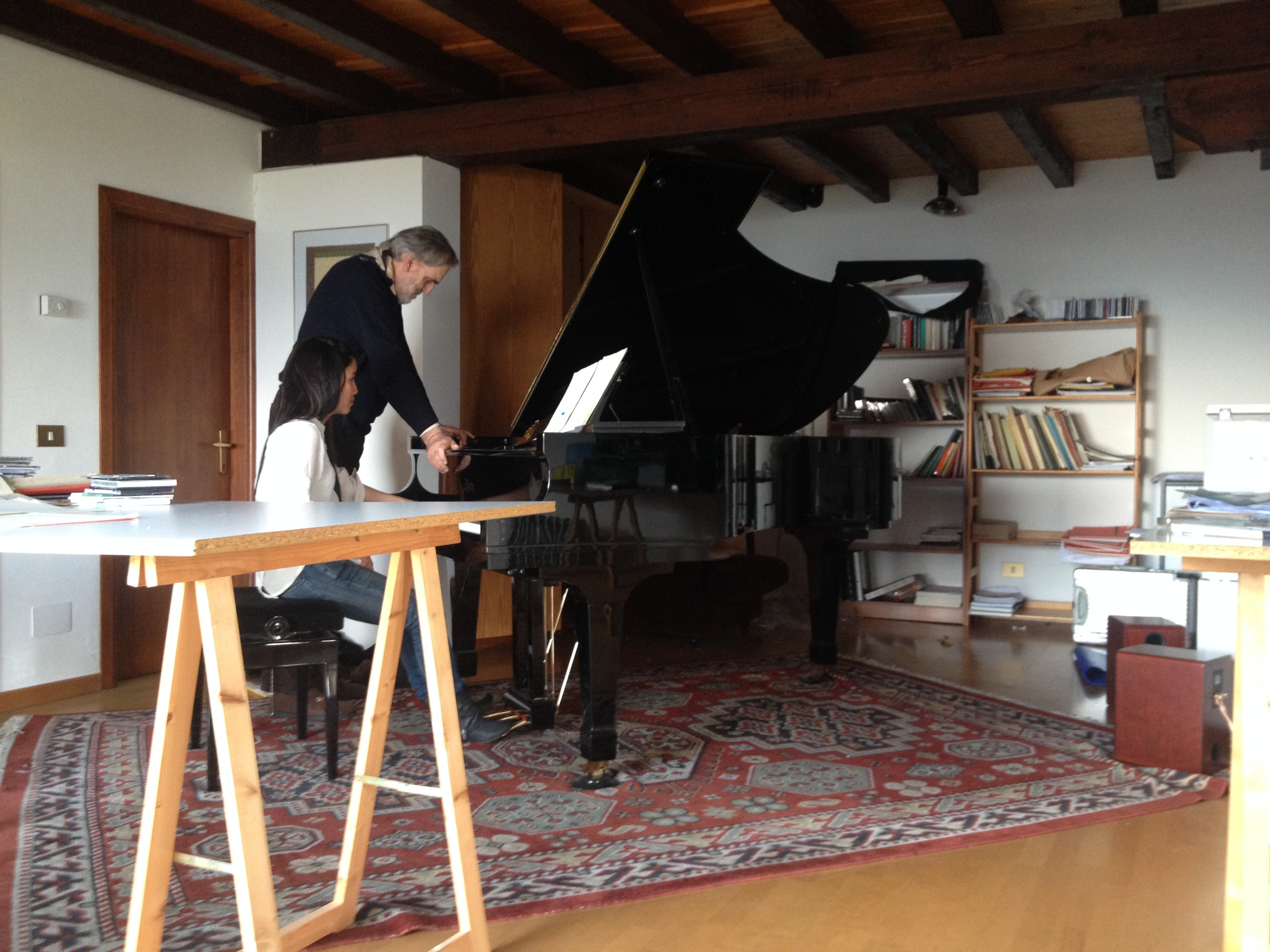 working with Helmut Lachenmann on SerYnade, april 2015
