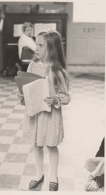 In rehearsal for Dorothy in  The Wizard of Oz , age 8