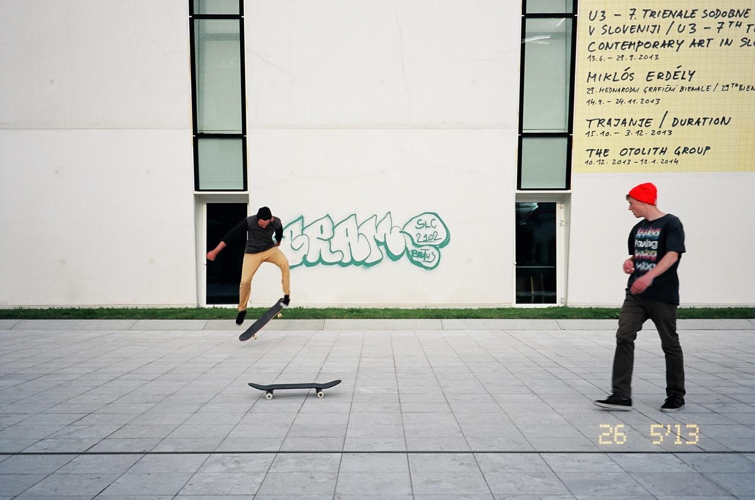Skate Boarders in Ljubljana