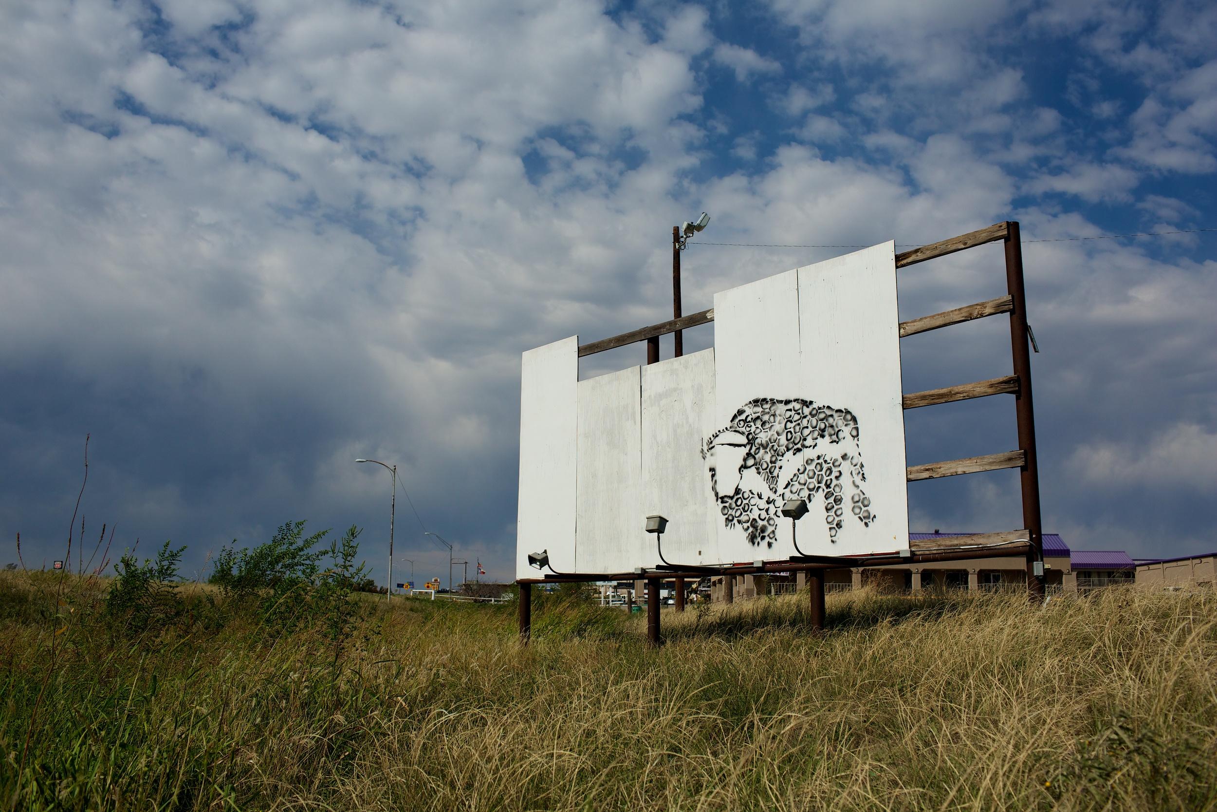 Broken Billboard Art