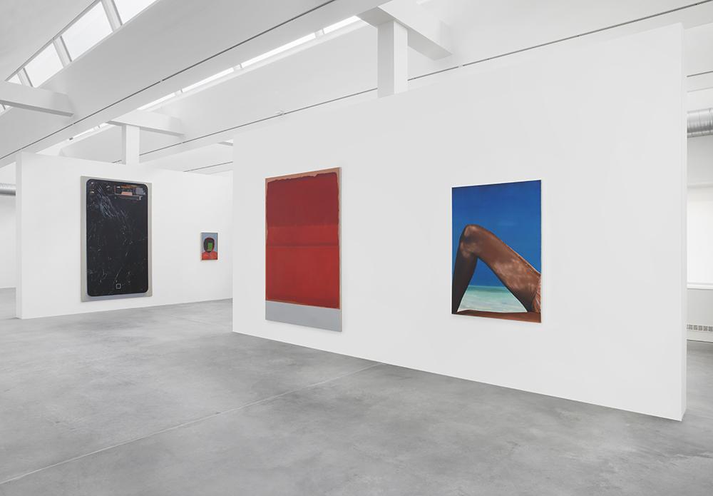 Eberhard Havekost,  Inhalt, Ausstellungsansicht, Maschinenhaus M2,Foto: Jens Ziehe, 2016
