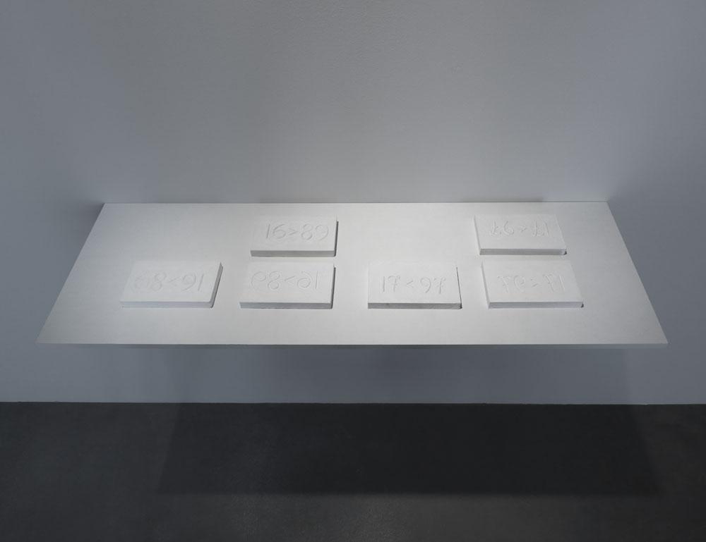 Magnús Pálsson,    Maths (Stærðfræði) , 1976/1978,Ausstellungsansicht  Up And Down , Maschinenhaus M1, Courtesy of the Artist, Foto: Jens Ziehe, 2017