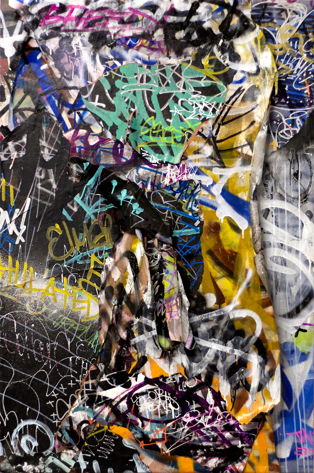 Breed, Mixed Media on Canvas, 48in x 32in  ©2013 Mint&Serfwith Jacuzzi Chris